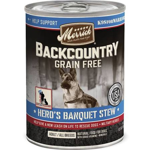"""Merrick Backcountry is an all-natural, grain-free ancestral canine diet packed with protein that dogs crave.  Merrick Backcountry Raw Infused kibble recipes deliver a perfect combination of protein-rich, grain-free kibble plus real, whole pieces of r"""""""