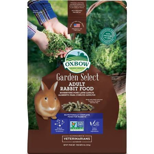 """Complete, balanced, and bursting with garden fresh flavor and aroma.  Garden Select Adult Rabbit contains all of the complete nutrition you've come to expect from Oxbow, with a flavor profile hand-picked from Mother Nature's kitchen.  Select garden i"""""""