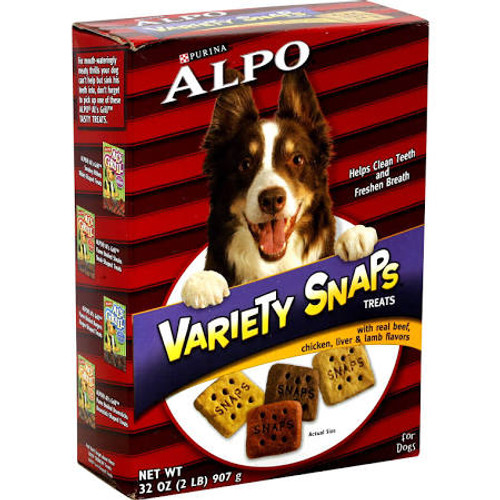 """It's a snap to give him a treat any time. It's a snap to share the meaty tastes he loves. It's a snap to treat him to a little variety. It's a snap to make his day."""""""