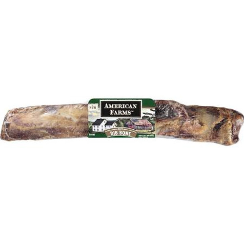 """American Farms Beef Rib Bone is an all natural beef rib bone free of artificial ingredients added preservatives or coloring.American Farms hand selects bones from only American farmed raised beef and pork to ensure the best quality size and meatiness"""""""