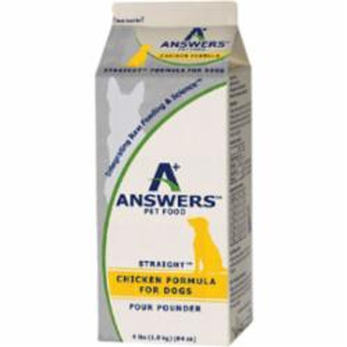 Answers Dog Frozen Straight Chicken 4lb