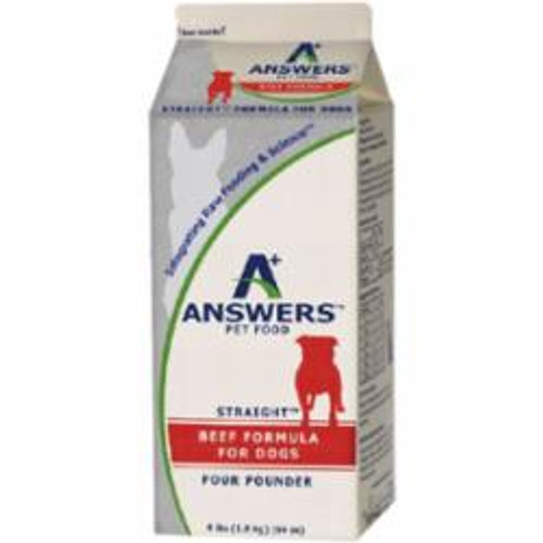 Answers Dog Frozen Straight Beef 4lb