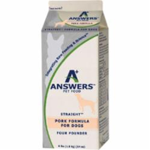 Answers Dog Frozen Straight Pork 4lb