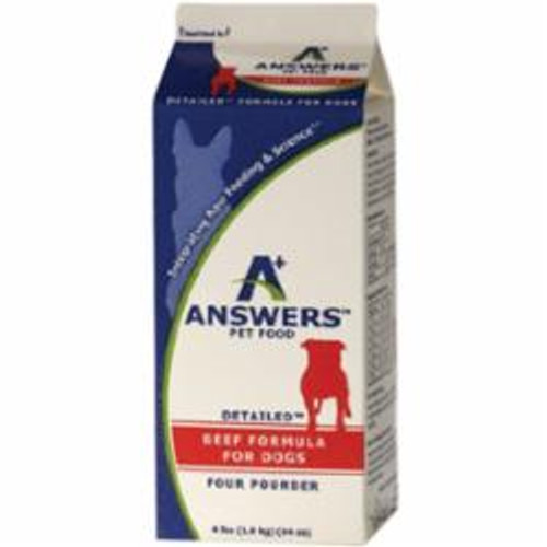 Answers Dog Frozen Detailed Beef 4lb
