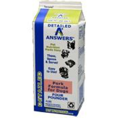 Answers Dog Frozen Detailed Pork 4lb