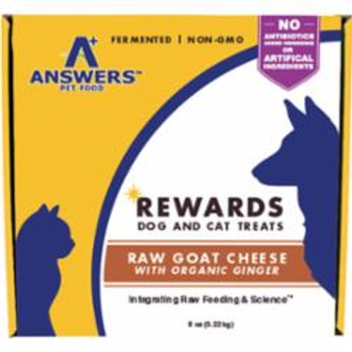 Answers Dog Cat Frozen Goat Cheeze - Ginger Treat 8oz