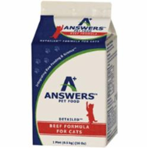 Answers Cat Frozen Detailed Beef 1lb