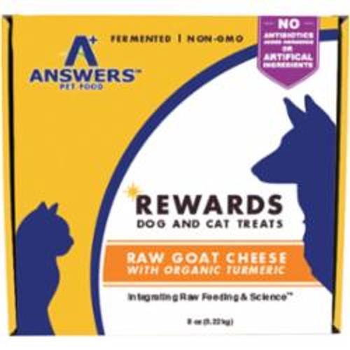 Answers Dog Cat Frozen Goat Cheeze & Turmeric Treat 8oz {L-x} SD-5