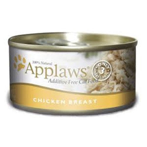 """Applaws Chicken Breast Canned Cat Food is 100% natural complementary pet food for adult cats.  There is only 3 ingredients in the formula to ensure your cats gets the most natural vitamins and minerals!"""""""