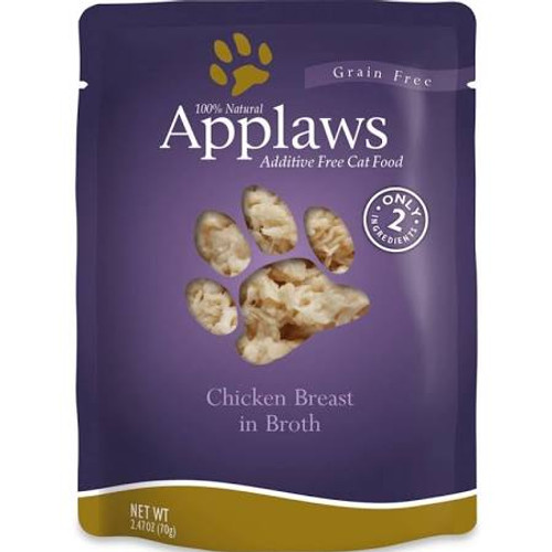 Applaws Cat Food Pouches Chicken Breast 2.4oz Applaws Pouches are a 100% completely natural complementary pet food for adult cats that contains only a select few ingredients that your kitty will love!  Use as a kibble topper or a supplemental meal!""