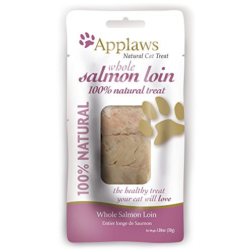 Applaws Whole Salmon Loin is a delicious and healthy treat for cats. Packed with lean protein goodness with no fillers, artificial flavors or preservatives. Using only natural ingredients including the finest salmon, we have created a treat that your cat will find irresistible.