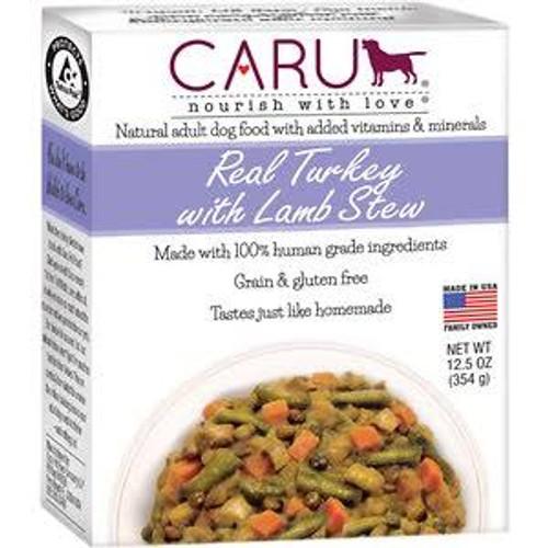 Caru Dog Stew Real Turkey Lamb 12.5oz
