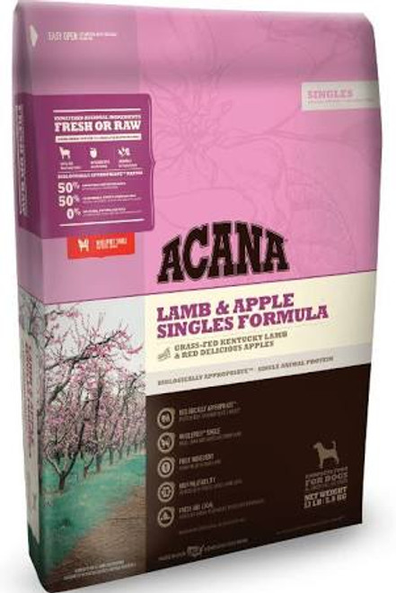 Acana Singles Lamb and Apple Dry Dog Food 12oz {L+x}