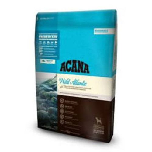 """ACANA Wild Atlantic Regional Formula Grain-Free Dry Dog Food, 25-lb bag The ultimate food mimics one that Mother Nature intended.  That s why ACANA Wild Atlantic Regional Formula Grain-Free Dry Dog Food is loaded with wild-caught mackerel, herring, r"""""""