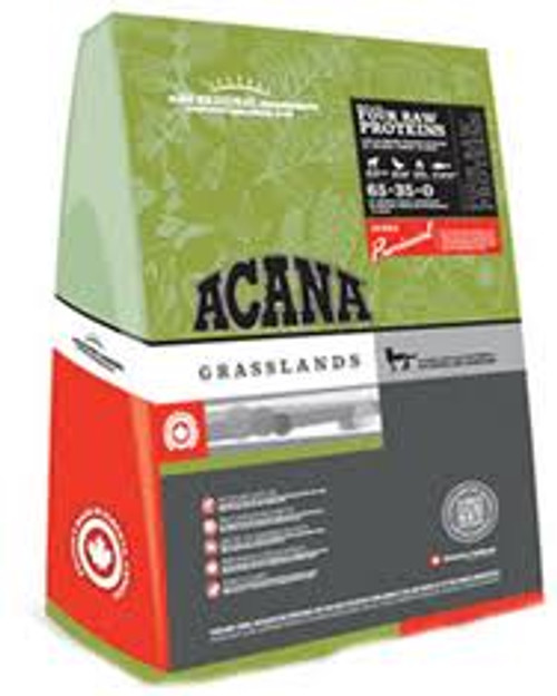 """Acana Grasslands Cat new formula .88 lbs As the old saying goes Happy cat happy life!  With bAcana Grasslands for Catsb both your wallet and feline friend will thank you.  Made with the most natural ingredients from the freshest corners of the globe"""""""