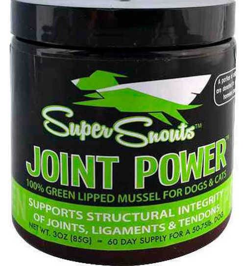 """Super Snouts Joint Powder Dog Supplement This supplement is made with joint boosting ingredients.  It features 100% nutraceutical grade Green Lipped Mussel.  The Green Lipped Muscle is cold extracted and freeze dried to keep the nutritional value.  T"""""""