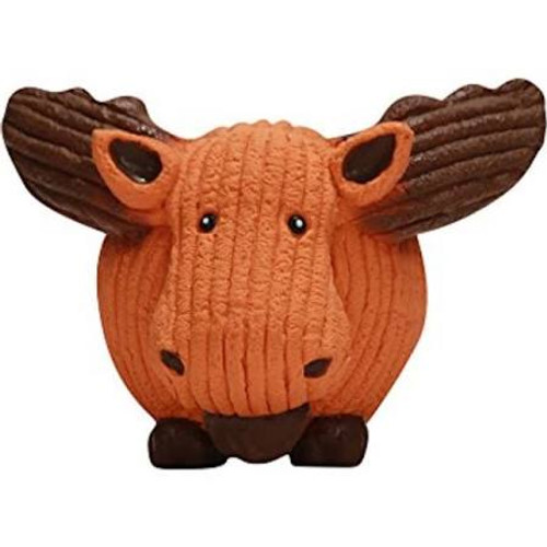 """Get your dog a toy that will have them running with the bouncy HuggleHounds Ruff-Tex Dog Toy Moose!  A round ball like toy great for fetch.  Adorable animal characters come to life in exclusive HuggleHounds designs and unique fabrication and every do"""""""
