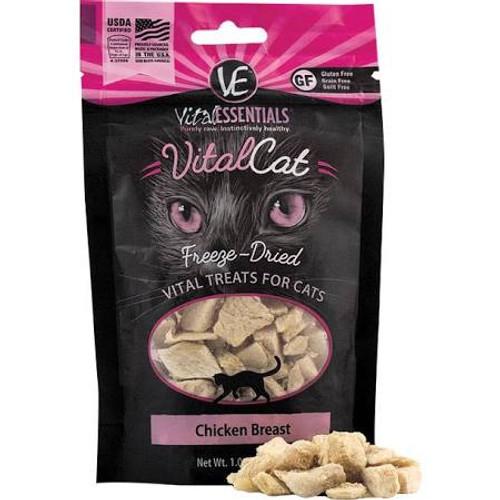 Vital Essentials Vital Cat Freeze Dried Grain Free Chicken Breast Cat Treats-1-oz-{L+x}