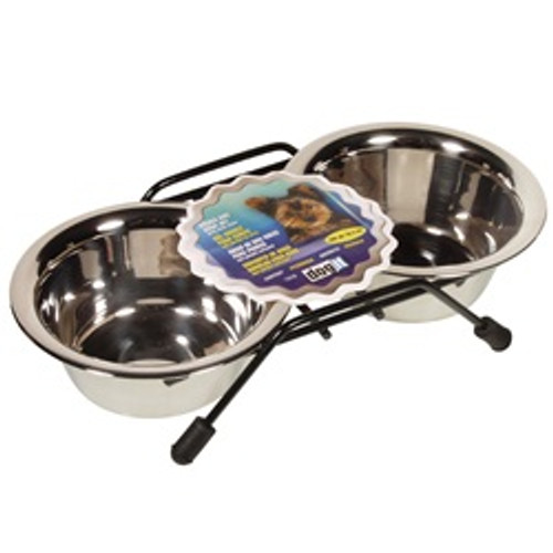 Dogit Ss Double Dog Diner Mini 8.4 Oz {requires 3-7 Days before shipping out}