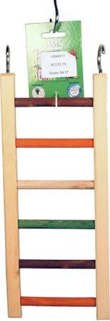 Multicolored Wood Design. Tons Of Climbing Fun For Your Bird. Durable Construction For Extended Use.
