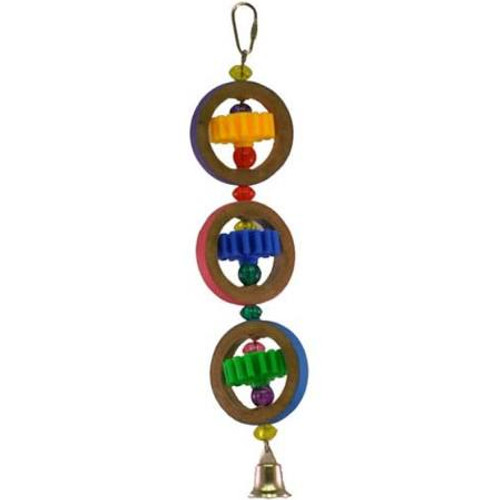 About A-e Cage This Bird Cage Is Designed And Manufactured By A-e Cage Co., Llc. Crafted Of Colorful Cardboard And Plastic. For Small To Medium Sized Birds. Bright Plastic Beads, Colorful Wheels, And Cardboard Rings Are Strung With Metal Wire To Make This