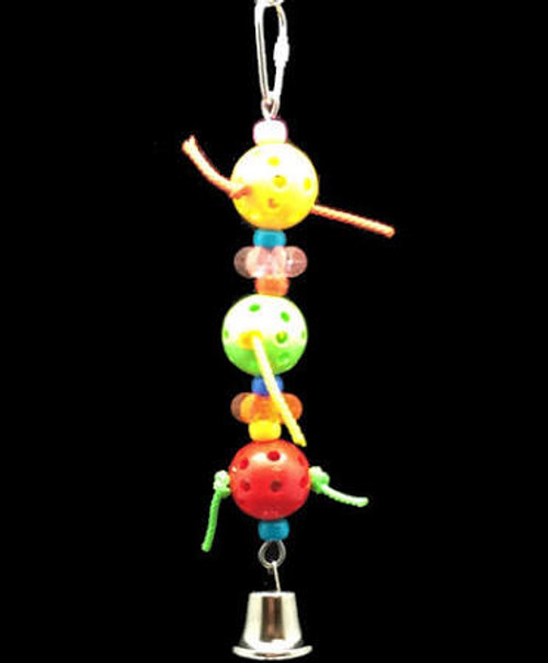 Happy Beaks Tres Huevos Is The Perfect Toy To Promote Exercise And Play. It's Multi-colored Design Provides Visual Stimulation For Your Bird. Toys Occupy Your Bird While You Are Away And They Play A Critical Role In Keeping Your Bird Healthy, While Also K