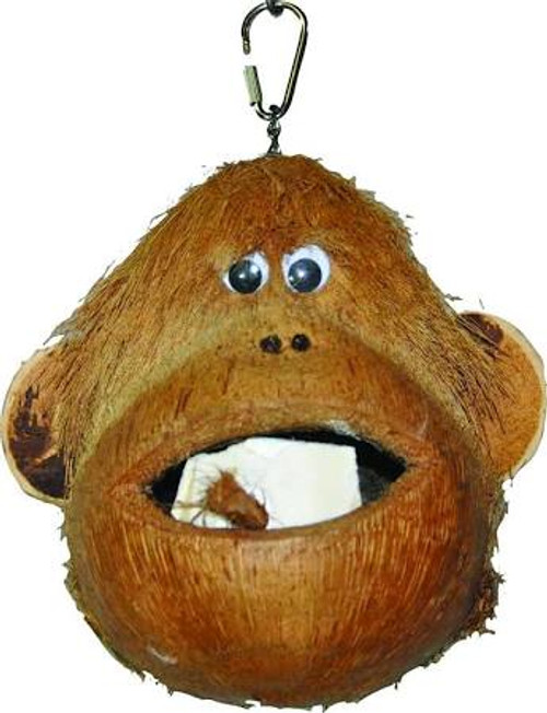 A-e Cage Hb46581 Coco Monkey Happy Beaks Coco Monkey Coconut Shell Made Into A Monkey Mouth Has Cuttlebone And Wood Blocks To Chew Use As A Foraging Toy By Putting Treats Inside Hangs With Metal Chain And Pear Link. Features Type - Coco Monkey Size - 6 X