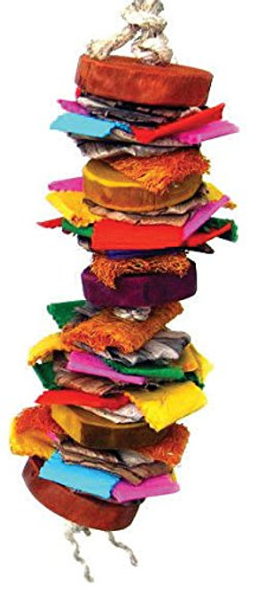 Stacked With A Rainbow Of Colorful Mixed Materials Various Textures To Appease Your Pet's Chewing And Foraging Needs.