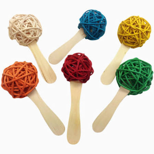 Colored 3 Cm Rattan Balls Attached To A Popsicle Sticks. Fill It With Crinkle Paper Or Almonds. Great For Foraging!.