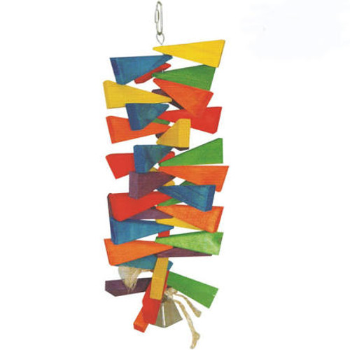 Give Your Bird The Ultimate Chomping Experience With The Wooden Wedges Toy By Happy Beaks. Colorful Wooden Wedges Are Threaded Onto A Sturdy Stainless Steel Chain For Your Bird To Chomp And Spin To Their Hearts Content. Dimensions: 15.75 X 5.91 X 5.91 Inc