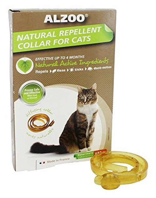 """Using natural active ingredients, Alzoo Diffusing Dog Collars effectively repel fleas, ticks, and mosquitoes, reducing the number of bites."""""""