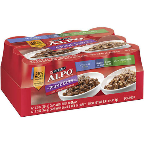 Purina Alpo Prime Cuts In Gravy With Beef Is Formulated To Meet The Nutritional Levels Established By The Aafco Dog Food Nutrient Profiles For Growth And Maintenance Of Dogs. Purina Alpo Prime Cuts In Gravy With Lamb - Rice Is Formulated To Meet The Nutri