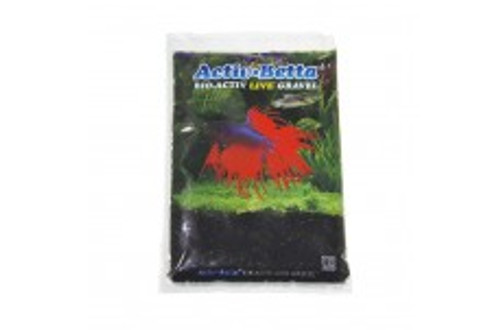 Activ Betta Bio-Activ Live Gravel Betta Black Gravel 1lb No Waiting...Just Add Fish! Premium All Natural LIVE Substrate Specially Packaged in LIVE Fresh Water For Instant Cycling Of Your Betta Aquarium and Fresh Water Fish Aquariums.