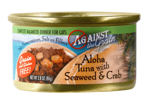 Against The Grain Aloha Tuna With Seaweed And Crab Canned Cat Food-2.8-oz, Case Of 24-{L+1}