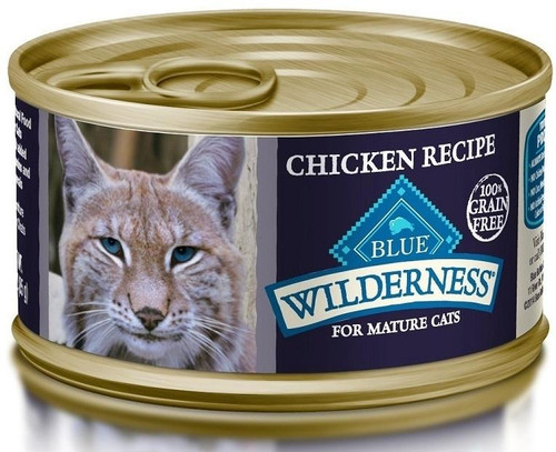 Blue Buffalo Wilderness Grain Free Mature Recipe Canned Cat Food Is A Grain-free, Nutrient Rich Wet Food That Will Satisfy Your Cats Wild Side!  Loaded With More Tasty Chicken To Supply The Protein Your Cat Craves.  Blue Buffalo Wilderness Grain Free