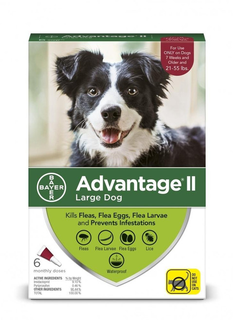 Advantage II Large Dog-21-55 lbs - 4 Month-{L-T1}