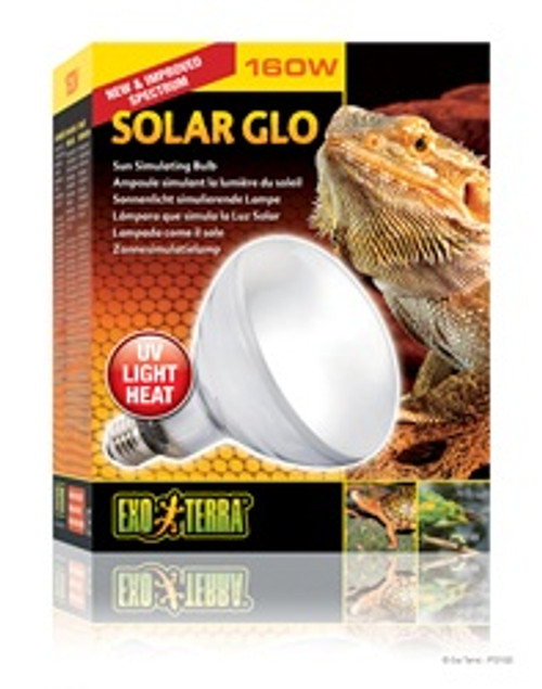 Exo Terra Solar-glo Merc.vapor Lamp 160w {requires 3-7 Days before shipping out}