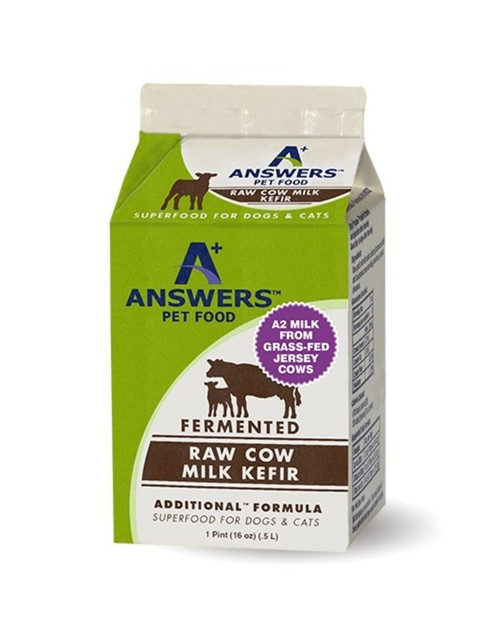Boost your pet's diet with Mother Nature's purest supplement with Answer's Kefir Milk! Answer's provides raw all-natural cow's milk in its purest form for your pet! Raw kefir is one of nature's most nourishing foods for your pet! Provides essential vitamins, minerals, probiotics, enzymes, fatty acids, and more to keep your pet strong and healthy! Also provides good digestive system benefits for sensitive tummies. Made from fermented grass-fed raw cow's milk proudly made in the USA. Fermentation allows the milk to retain its maximum nutritional benefits. Highly palatable to make it irresistible for picky eaters! Answer's uses environmentally-friendly packaging and recyclable paper cartons to provide an eco-friendly product. Raw kefir milk is one of Mother Nature's probiotics and a natural supplement! Easily enhances your pet's diet! Formulated for dogs and cats of all life stages. Serve as is or try as a tasty topper! Your pet will love the creamy flavor! Try a carton of Answer's Kefir Milk today! Your furry friend will thank you! Made in USA. Answer's is a trusted fan-favorite of the Pet Beastro!