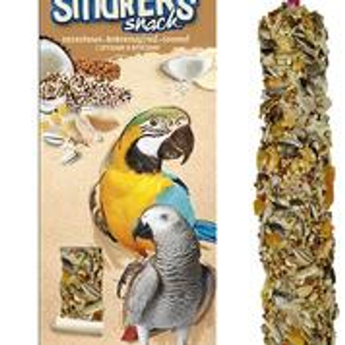 A& E Vitapol Smakers Parrot Maxi Twin Pack Treat Stick - Nut/Coconut2 pack