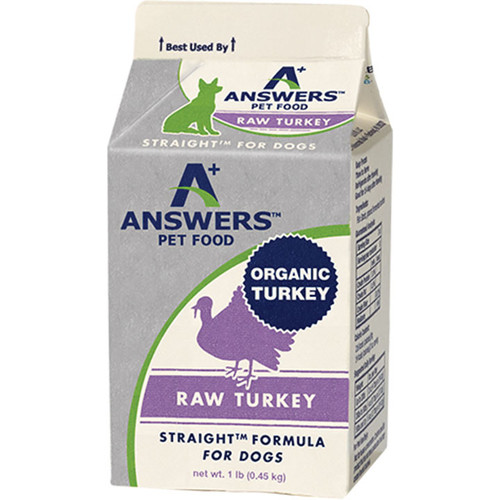 ANSWERS DOG FROZEN STRAIGHT TURKEY 1LB