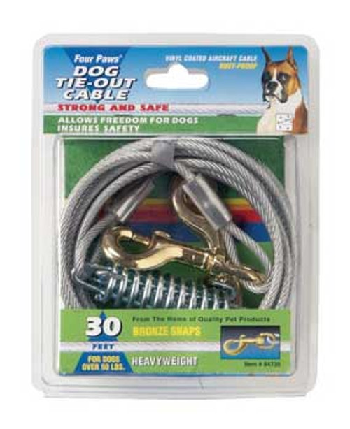 Four Paws Heavy Weight Tie Out Cable Silver 15ft