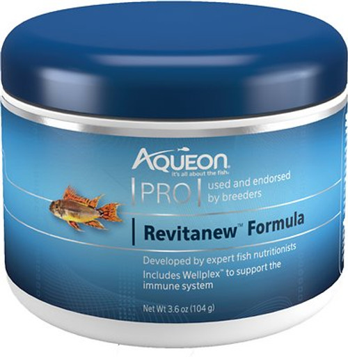 Traveling is stressful on fish which can result in them not eating. The fundamental goal of the Revitanew Formula is to holistically combat the negative effects of stress on fish. The combination of highly palatable ingredients with increased proteins and fats, work together to entice fish to continue eating. Additional Wellplex along with other probiotic ingredients, leads to a well-supported immune system.