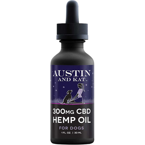 AUSTIN AND KAT DOG CAT CBD SALMON OIL 300MG 1OZ