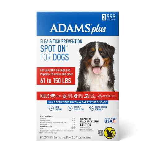 Adams Plus Flea & Tick Spot On for X-Large Dogs 3 Month