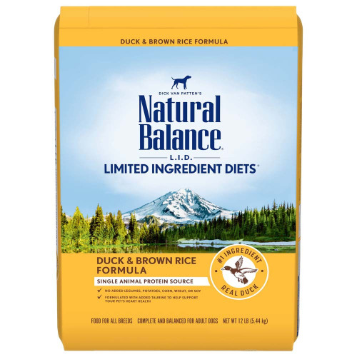 Natural Balance LID Duck and Brown Rice Adult Dry Dog Food 12 lb {L-1}