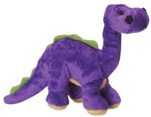 Godog Dinos Bruto Purple Small With Chew Guard Technology Tough Plush Dog Toy