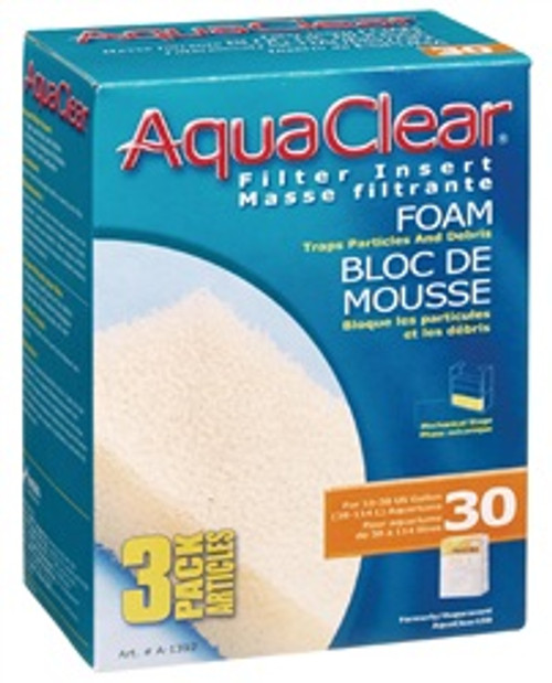 Aqua Clear 30 (150) Foam 3pk {requires 3-7 Days before shipping out}