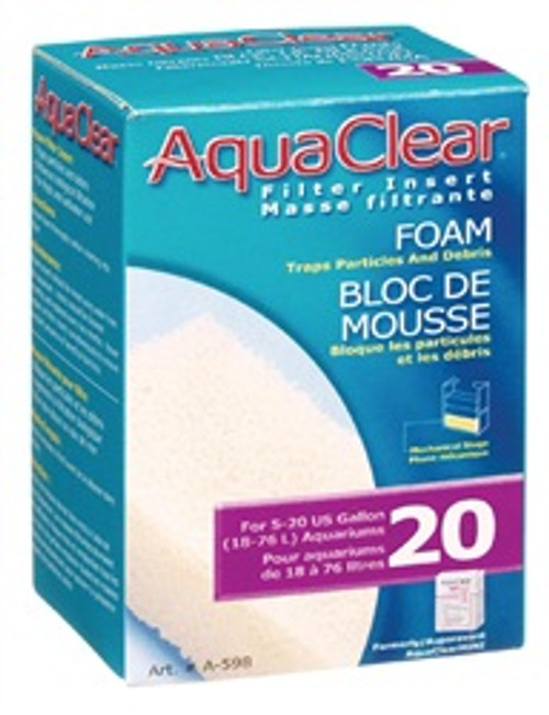 Aqua Clear 20 (mini) Foam Filter Insert {requires 3-7 Days before shipping out}