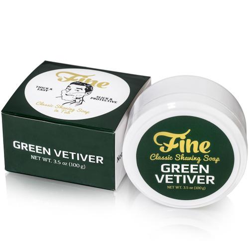 Fine Green Vetiver Shaving Soap