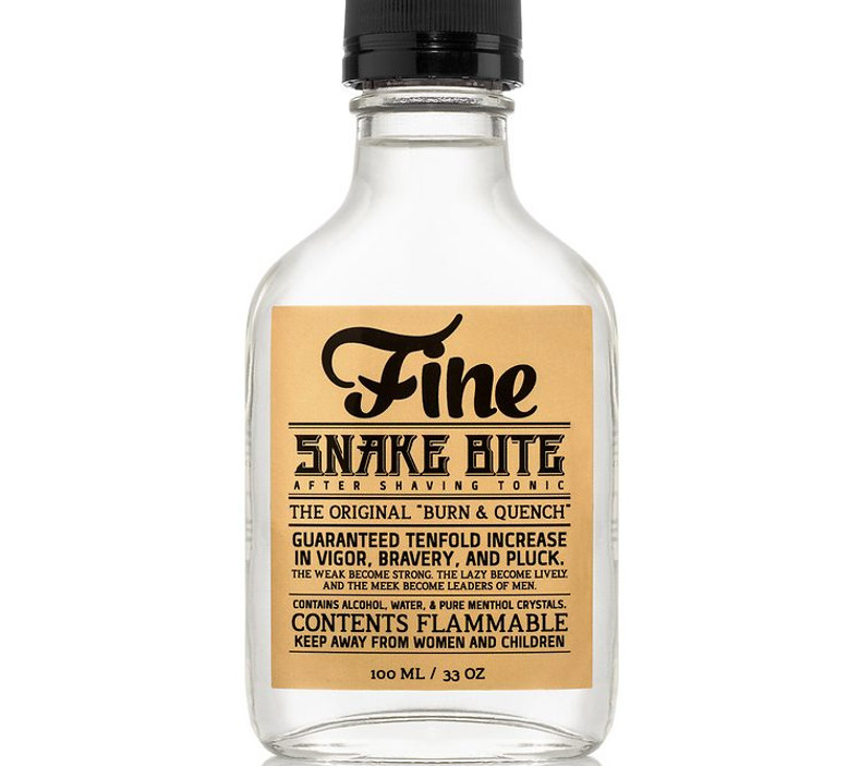 SNAKE BITE AFTER SHAVE TONIC NAMED AMONG TOP 10 AFTERSHAVES